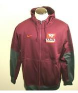 Nike Mens Virginia Tech Hokies Therma Dri-Fit Full Zip Hooded Jacket Siz... - $57.79