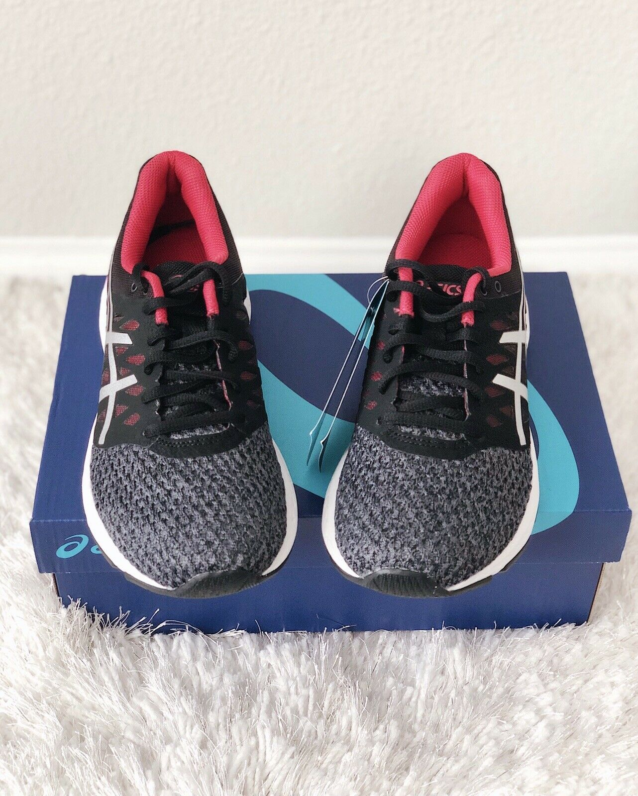 ✨New ASICS Gel Exalt 4 Running Sneakers Carbon Cosmo Pink Womens Size 7 $160 NIB