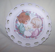 1992 Precious Moments-Girls/Kittens Mini Plate-#247650-Box, No Easel - $8.50