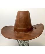 Vintage Henschel Western Cattleman Hat Union Made Medium USA Rare - $44.50