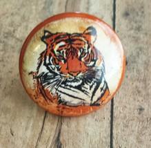 Handmade Tiger Birch Knobs Drawer Pulls, Wild Animal Cabinet Pull Handle... - $5.94