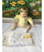 Danbury Mint PLAYFUL BABIES DOLL Playing Footsie with A Blanket New - $69.29