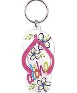 Acrylic Hawaiian Beach Slipper Keychain - $11.75