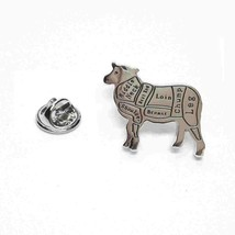 Butchers Cuts of lamb, sheep Lapel Pin Badge / tie pin, Lapel Pin Badge