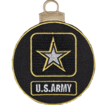 """3.75"""" Army Emblem Christmas Tree Ornament Embroidered Patch - $16.24"""