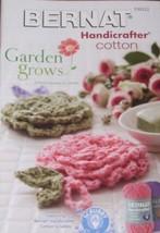 Garden Grows: floral crochet patterns - hotpads, dishcloths, cozies, bath mat... - $9.76