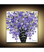 Purple Flowers Bouquet in vase Fine Art PRINT on Stretched Canvas -Susan... - $245.00