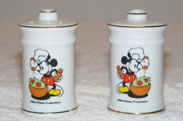 Disney Mickey Mouse Salt & Pepper Shakers Euc - $19.99