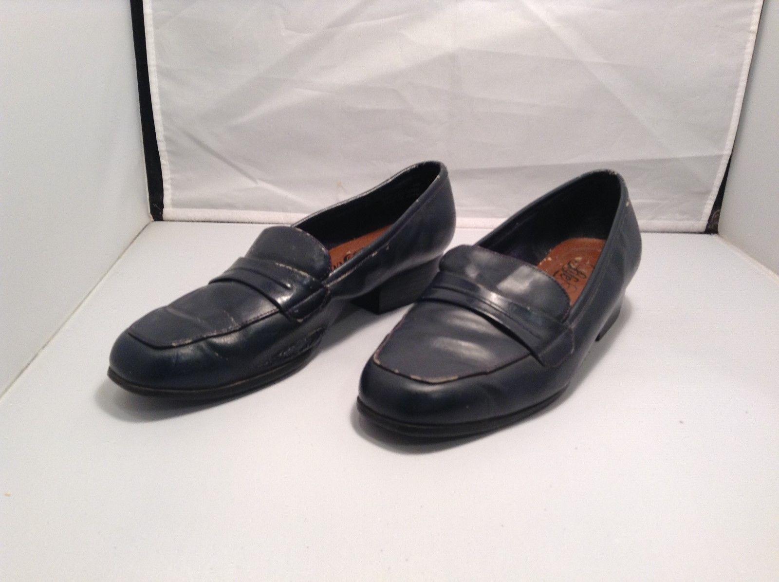 LifeStride Women's Black Leather Slip On Flats Sz 7.5W