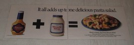 1990 Kraft House Italian Dressing and Miracle Whip Ad - It all adds up - $14.99
