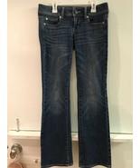 American Eagle Slim Boot Stretch Womens Blue Denim Jeans Size 0 S x 29 - $14.95