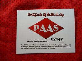 SAMMY WATKINS / AUTOGRAPHED KANSAS CITY CHIEFS RED CUSTOM FOOTBALL JERSEY / COA image 6