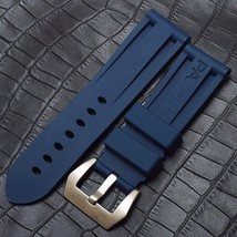Blue Rubber Strap Bracelet FOR PAM Officine Panerai luminor band 22mm W/... - $39.99