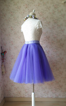 Light-Purple Ballerina Tulle Skirt Girls Plus Size Tulle Tutu Skirt image 6