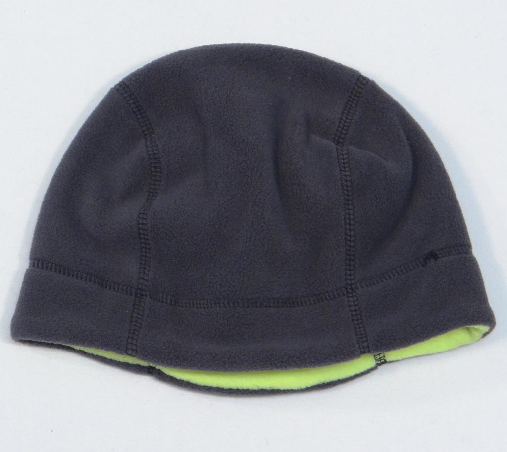e1075e4cc08 Nike Reversible Gray   Lime Fleece Beanie Skull Cap Boys 8-20 NWT
