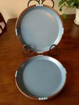 """Dansk Japan MESA """"Lighter"""" BLUE Dinner Plates 10 1/2"""" Lot of 2 - $34.25"""
