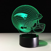 New England Patriots Football NFL 3D Light LED Helmet 7 Color Changing D... - $30.99