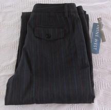 NWT Nine West Cyndi Charcoal Herringbone Pants  Misses Size 4 Wool Blend  - $31.68