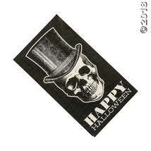 16 SKULL W/TOP HAT VINTAGE STYLE happy Halloween Napkins Party DECORATION - $6.49
