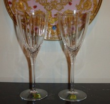 "2 Waterford Marquis Arcadia Water Goblets 8.5"" - $29.00"