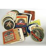 Lot Vtg Paper Cardboard Beer Coasters (53) Advertising Budweiser Moosehe... - $19.79