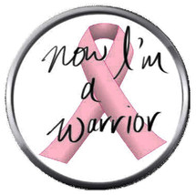 I'm A Warrior Fight Cure Breast Cancer Pink Ribbon 18MM-20MM Snap Jewelr... - $5.95