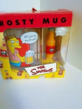 The Simpsons Frosty Mug  Will You Be My Friend Duff Beer Barney 2002 - $19.79
