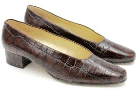Nine West Alexa Women High Heeled Loafers Size US 8M Brown Leather - $45.99