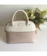 Kate Spade Medium Grove Street Carli Leather Crossbody Bag Purse Satchel Beige - $129.99