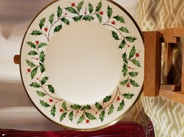 """LENOX CHINA - HOLIDAY (Dimension) - dinner plate 10 3/4"""" - Excellent Condition - $25.71"""