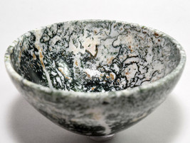 "3.2"" Green Dendrites Moss Agate Bowl Polished Gemstone Crystal Mineral -... - $32.95"