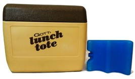 Gott Lunch Box w lid  Vintage Brown and Tan Cooler, Mo 1806 w Replacemen... - $23.01