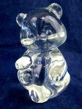 Vintage FENTON Clear Crystal Glass Bear Figurine Figure Paperweight - EUC - $11.88