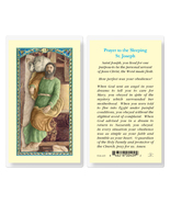 Sleeping St. Joseph Laminated Prayer Holy Card 25-Pack - $24.99
