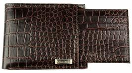 Calvin Klein CK Men's Leather Removable Card ID Passcase Wallet Brown 79491 image 3