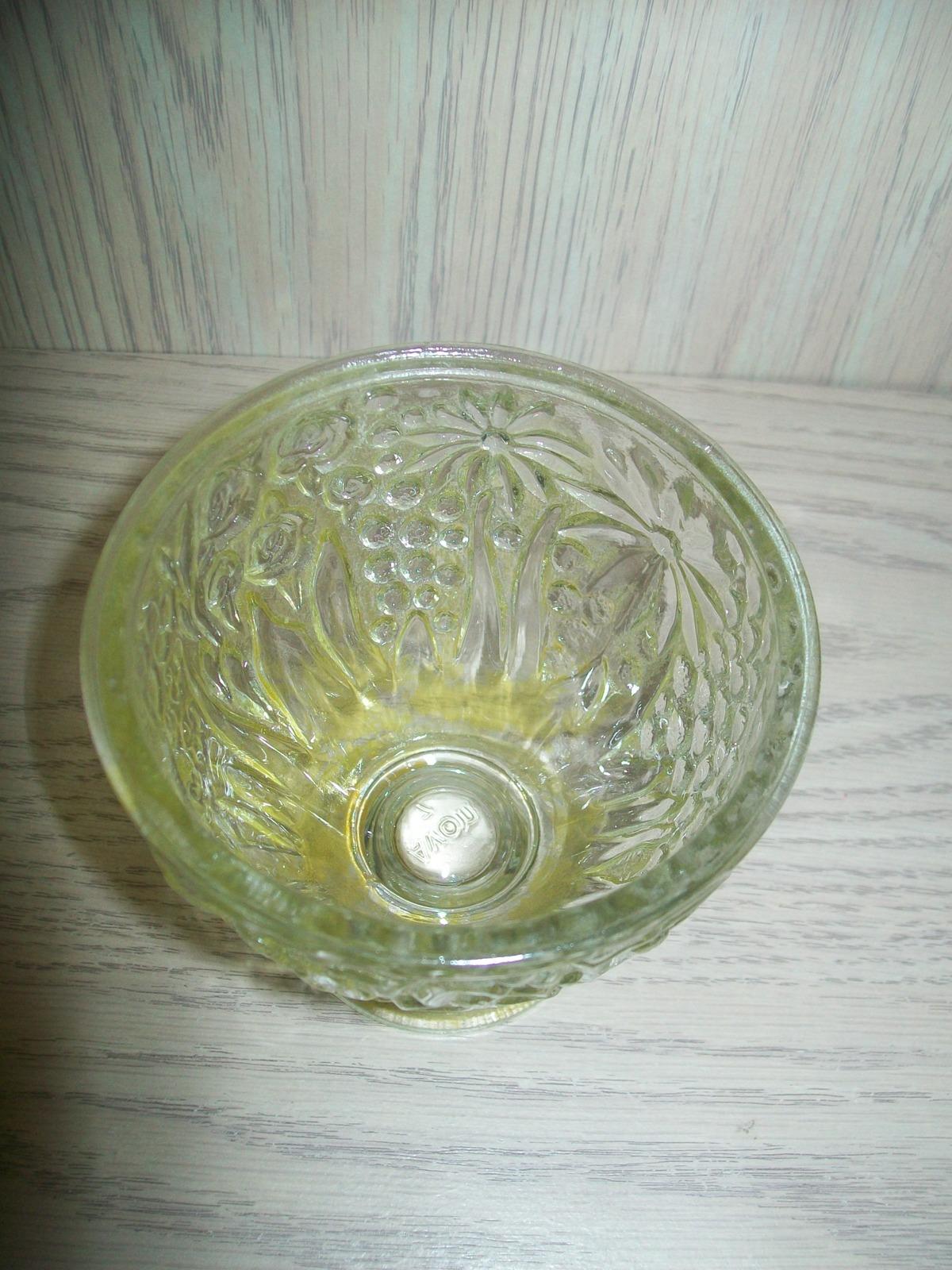 Avon Topaz Glass Candy Dish or Vanity Jar 1960