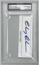 Chevy Chase signed 4.5x1.5 Cut Sig PSA Slabbed Certified Autograph #8397... - $88.95