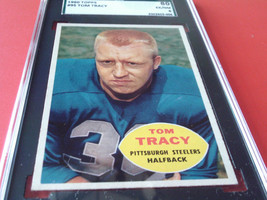 1960   TOM  TRACY  #  95  TOPPS   SGC  80    PITTSBURGH  STEELERS   FOOT... - $29.99