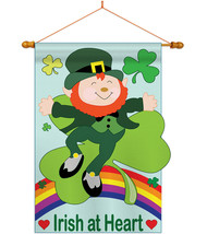 Irish At Heart - Applique Decorative Wood Dowel with String House Flag S... - $46.97