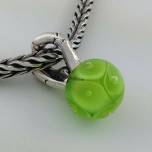 Authentic Trollbeads Spring Sterling Silver & Glass Pendant Bead Charm 61718 NEW - $34.19