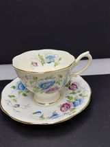 Royal Albert cup and saucer bone china pink & blue flowers,  - $24.87