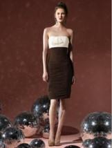 Dessy 8107..Cocktail length, Strapless, Chiffon dress....Espresso, Ivory... - €42,70 EUR