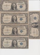 10 1935 Silver certificates 5 Series A & 5 Series G - $25.50
