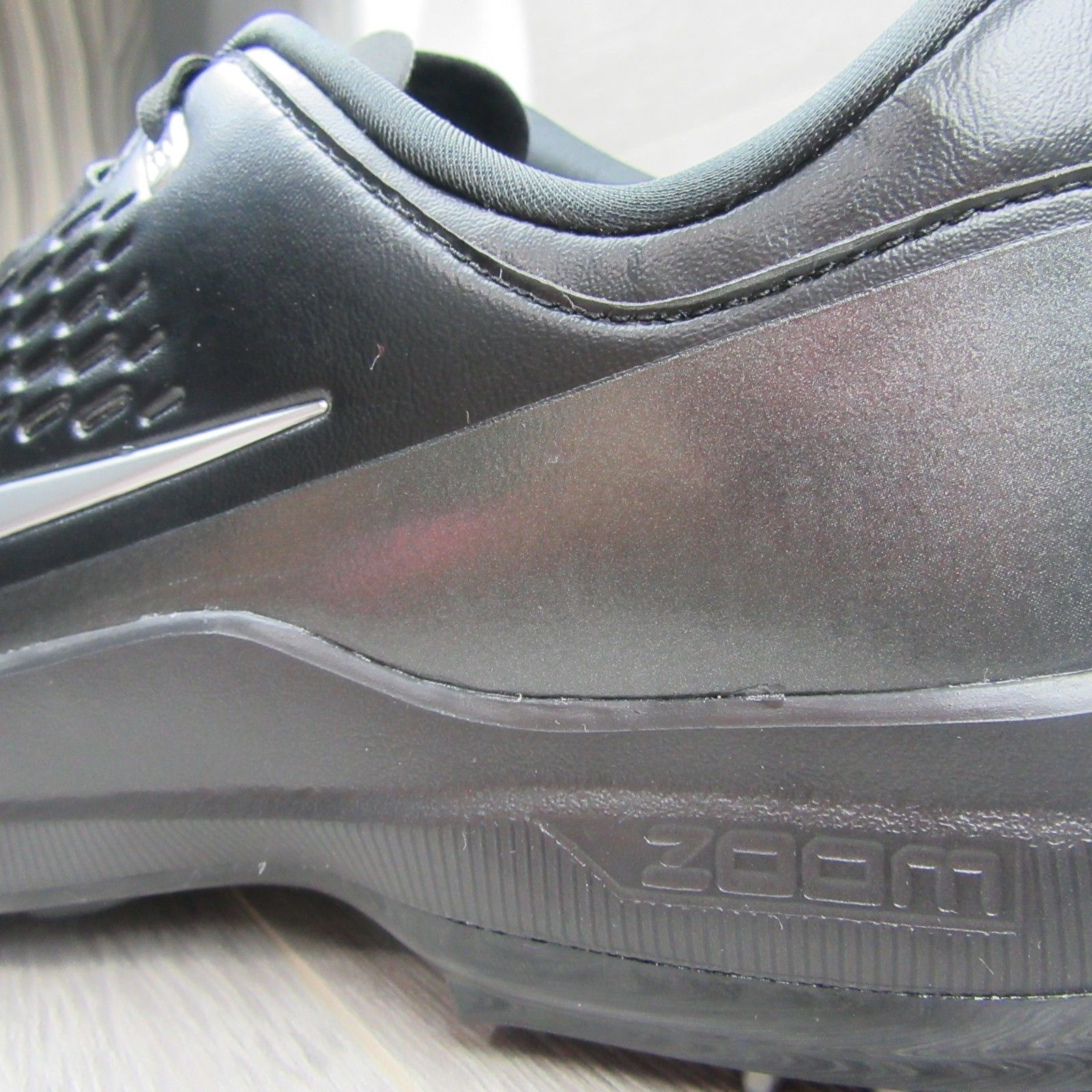 e09686f159209 Nike Golf Air Zoom TW71 Tiger Woods Cleats Size 11 Mens Black Silver AA1990  002