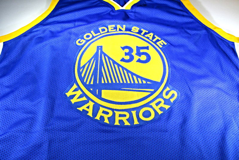 KEVIN DURANT / AUTOGRAPHED GOLDEN STATE WARRIORS CUSTOM BASKETBALL JERSEY / COA