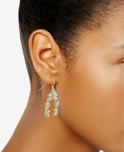 Rachel Roy Gold-Tone Colored Stone Leaf Drop Dangle Earrings NEW image 2