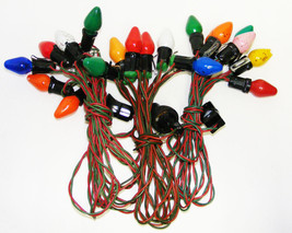 3 Strands Vintage C-7 Christmas Lights - 20 Bulbs Total - $22.00