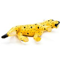 Hand Carved & Painted Jacaranda Wood Santa Hat Cheetah Safari Christmas Figurine image 5