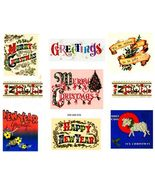 Text Greetings Vintage Christmas Images Digital Sheet  - $8.64 CAD