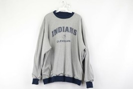 Vintage 90s Mens 2XL XXL Cleveland Indians Spell Out Reversible Sweatshi... - $34.60